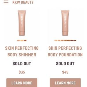 KKW body collection includes makeup with brush